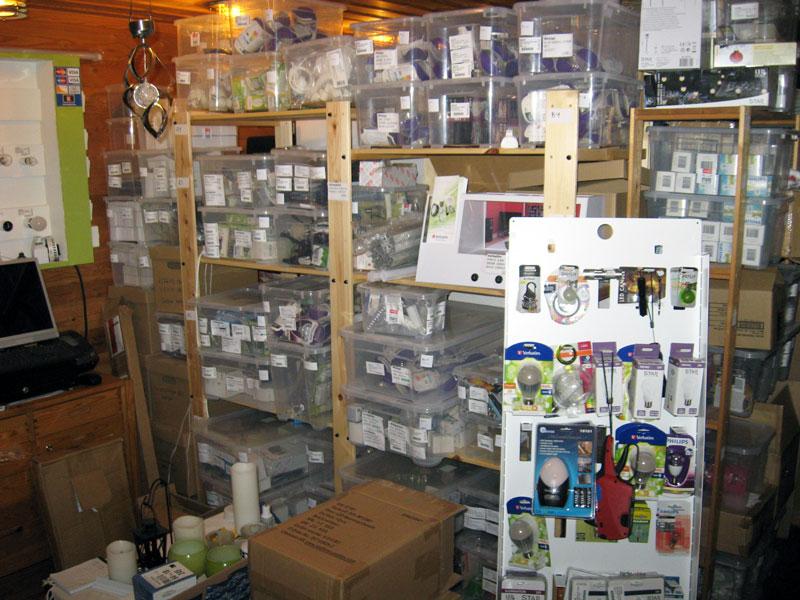 Lagerbutiken innan flytten